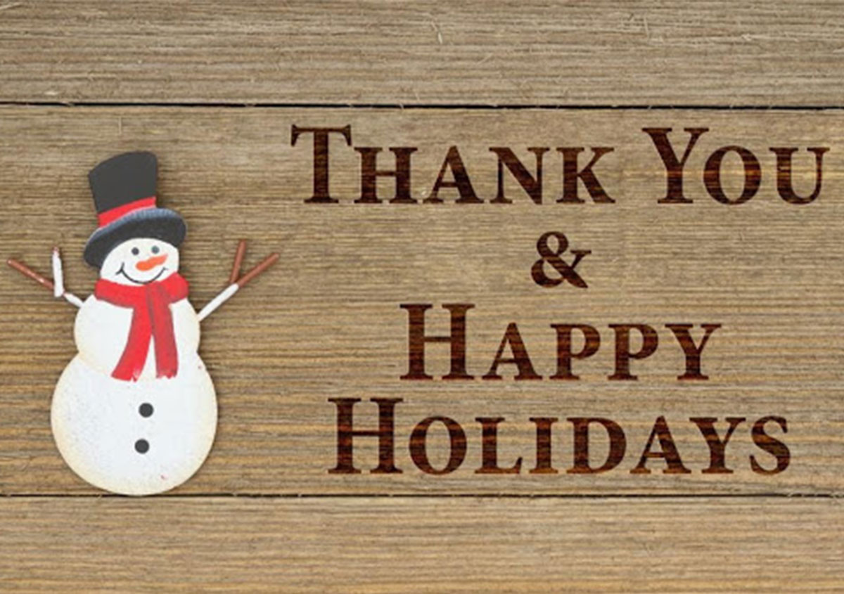 Thank you and happy holiday